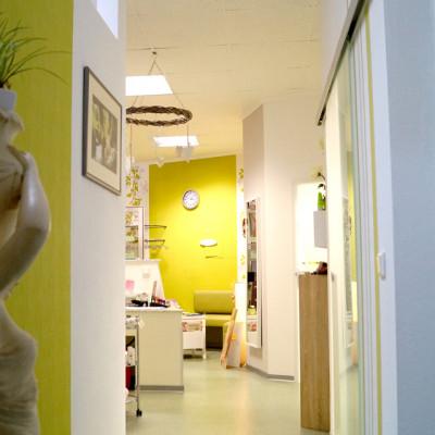 Foto: Flur zu den Behandlungszimmern