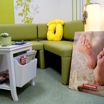 Foto: Wartebereich der Podologischen Praxis